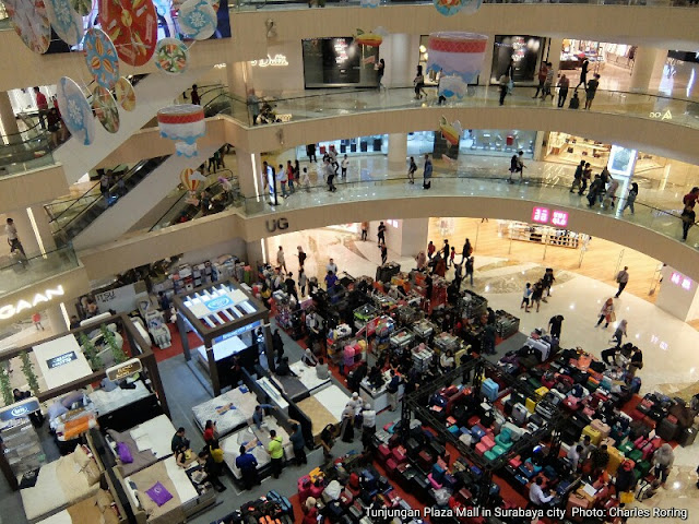 Tunjungan Plaza Mall in Surabaya city of Java island
