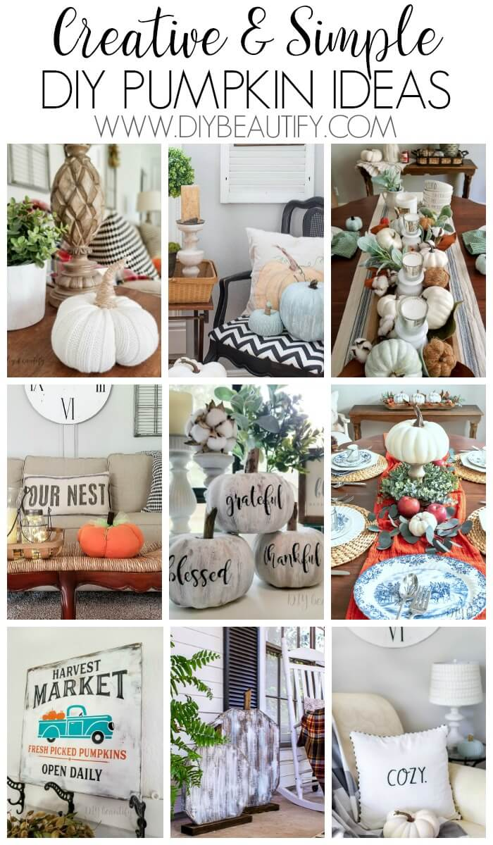 collage of pumpkin projects