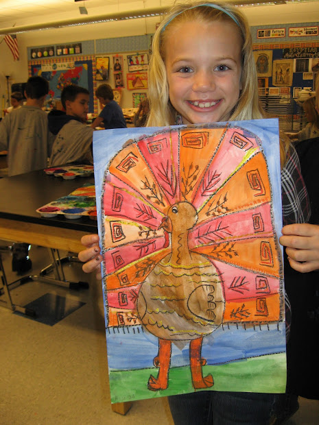 Jamestown Elementary Art 2nd Grade Fall Turkeys
