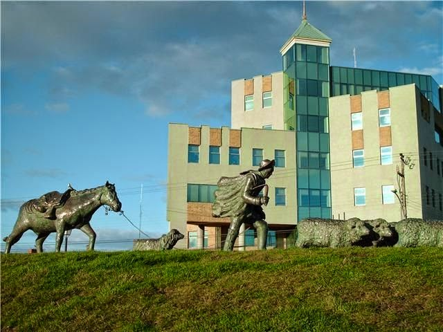 Monument to The Shepherd in Punta Arenas, Chile