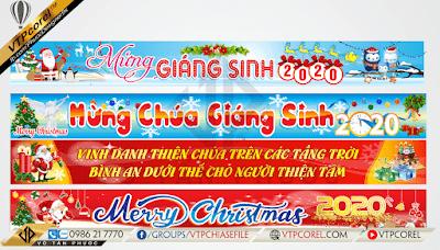 Băng rôn noel - giáng sinh - merry christmas - jingle bells đẹp nhất