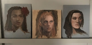 oil portraits, studies