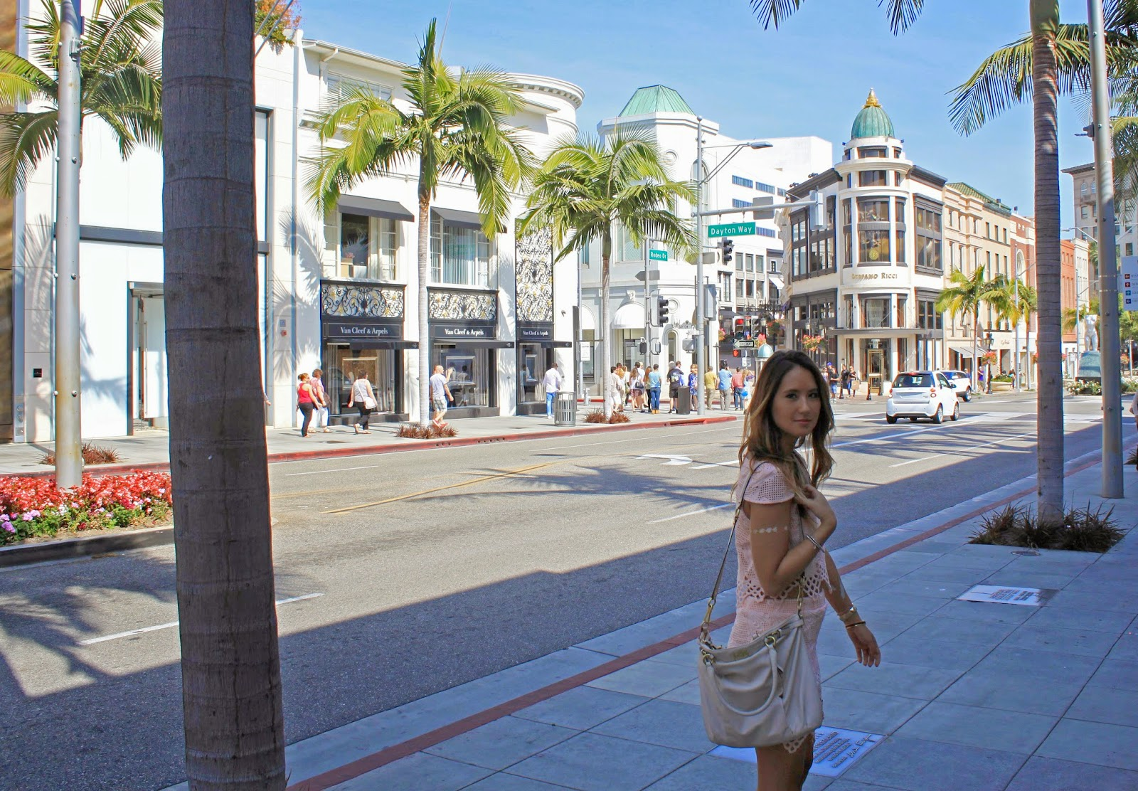 Boho Nouveau shopping on Rodeo Drive in Beverly Hills