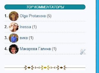 Гаджет ТОР комментаторов с аватаром