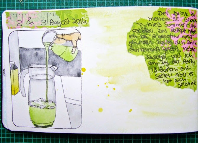 Mixed Media Montag Art Journal Aquarell Tutorial von Wiebke Hahn für www.danipeuss.de
