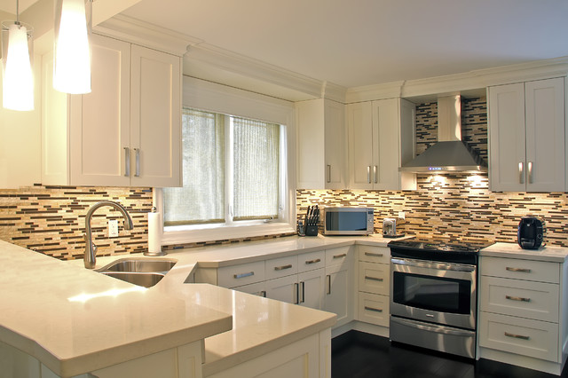 quartzite kitchen countertops with white cabinet