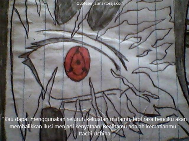 Gambar kata-kata bijak Sasuke Uchiha