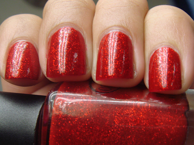 Color Club Ruby Slippers Red Glitter Shimmer Nail Polish Ebay