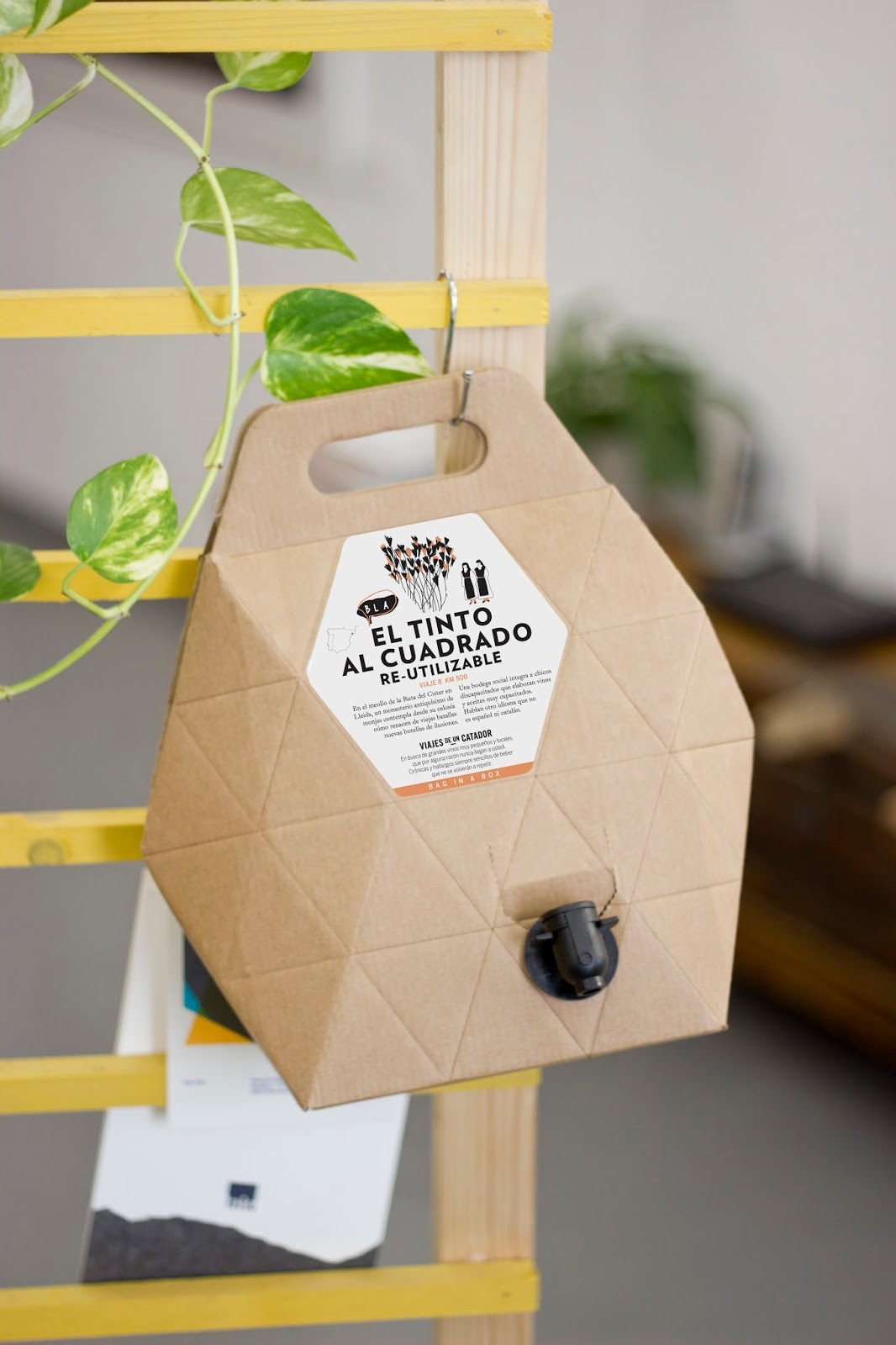 Example of cardboard packaging being used for sustainable efforts