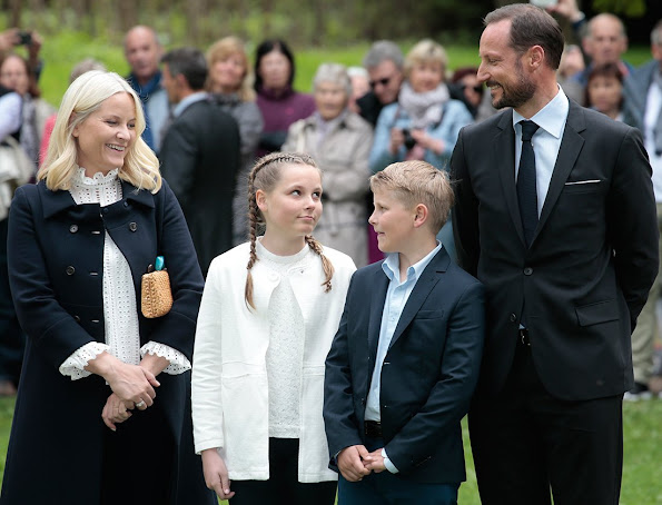 Crown Princess Mette-Marit of Norway, Prince Sverre Magnus of Norway and Princess Ingrid Alexandra of Norway attend the Opening of The Princess Ingrid Alexandra Sculpture Park