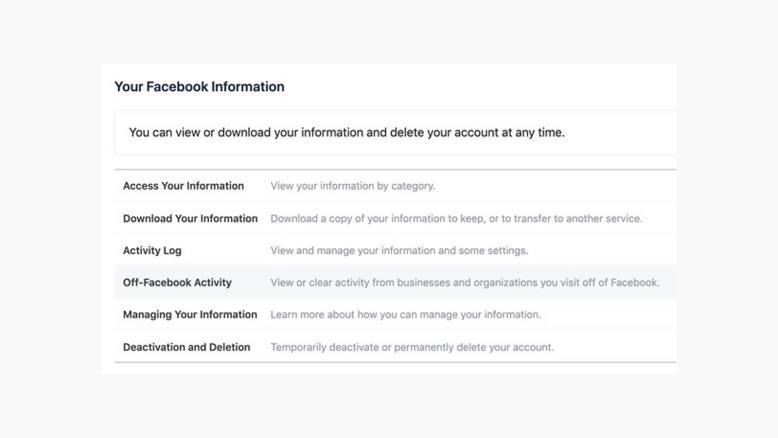 facebook information sharing