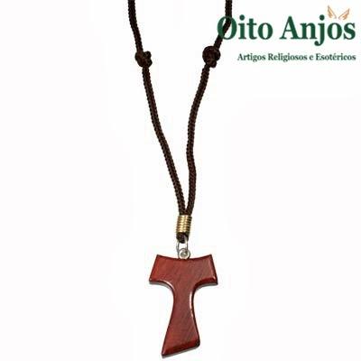 Tau - Símbolo Franciscano  * Oito Anjos Artigos Religiosos e Loja Esotérica