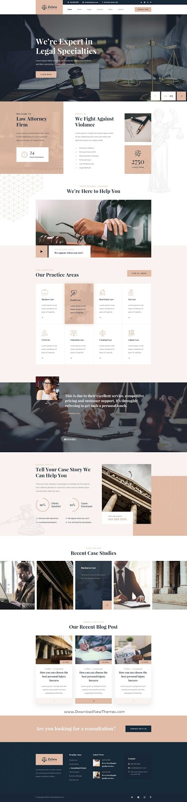Lawyer Attorney PSD Template
