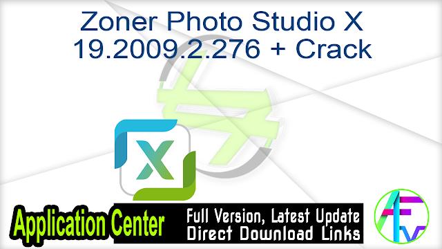 Zoner Photo Studio X 19.2009.2.276 + Crack