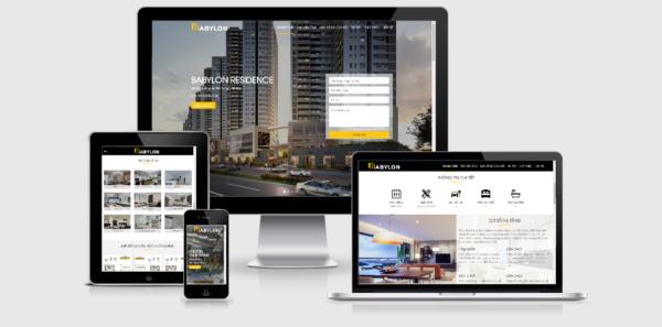 Theme WordPress bất động sản mẫu số 8 – Babylon Residence