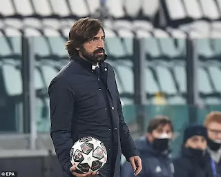 Juventus boss Pirlo not scared of being sacked after champions league exit