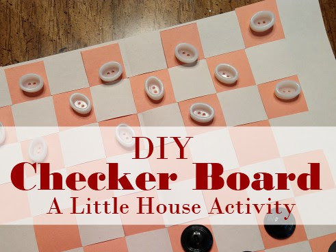 Pa's Homemade Checker Board