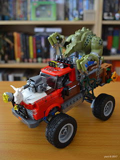 the lego batman movie - killer croc tail-gator: kc taking his baby for a spin