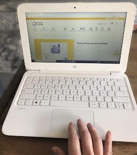 Mockup d'ordinateur avec le site myfujifilm