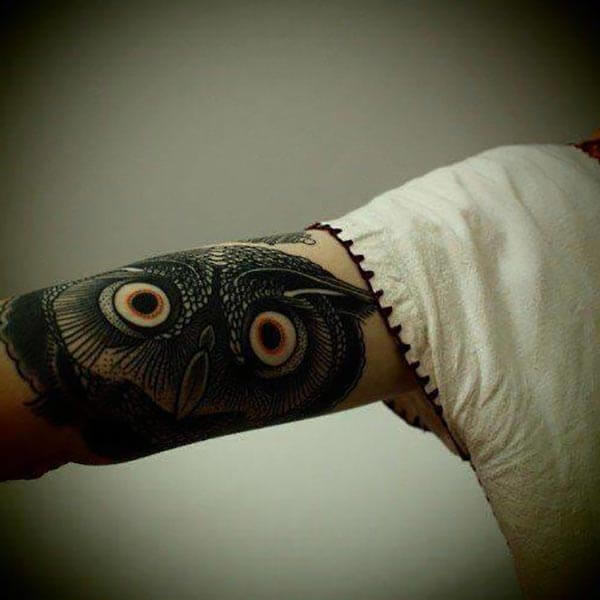 siyah baykuş dövmesi balck owl tattoo