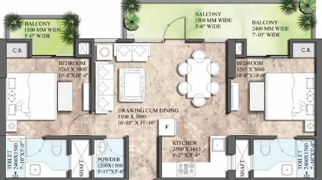 Supertech 27 Heights - Floor Plan