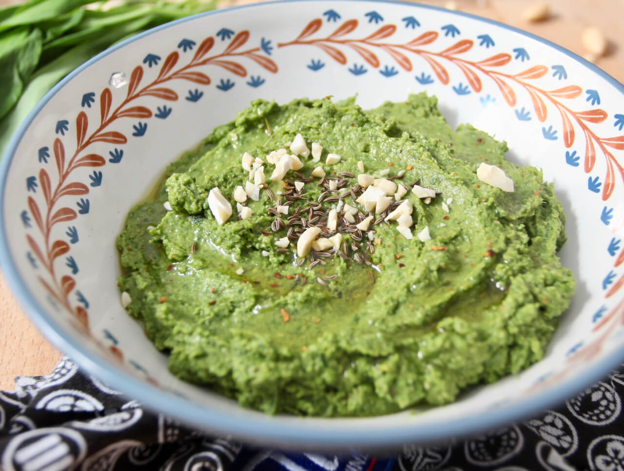 Rezept  Bärlauch Hummus