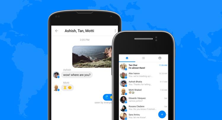 Tampilan Messenger Lite Android ringan