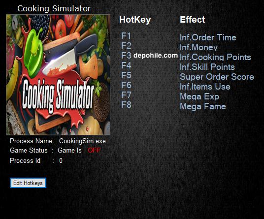 Cooking Simulator (PC) Oyunu Sınırsız PARA,Exp +8 Trainer Hilesi