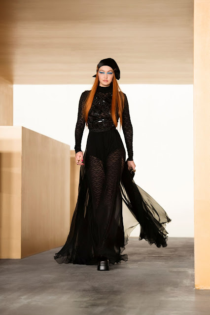 GIGI HADID at Versace Fall/Winter 2021 Fashion Show in Milan