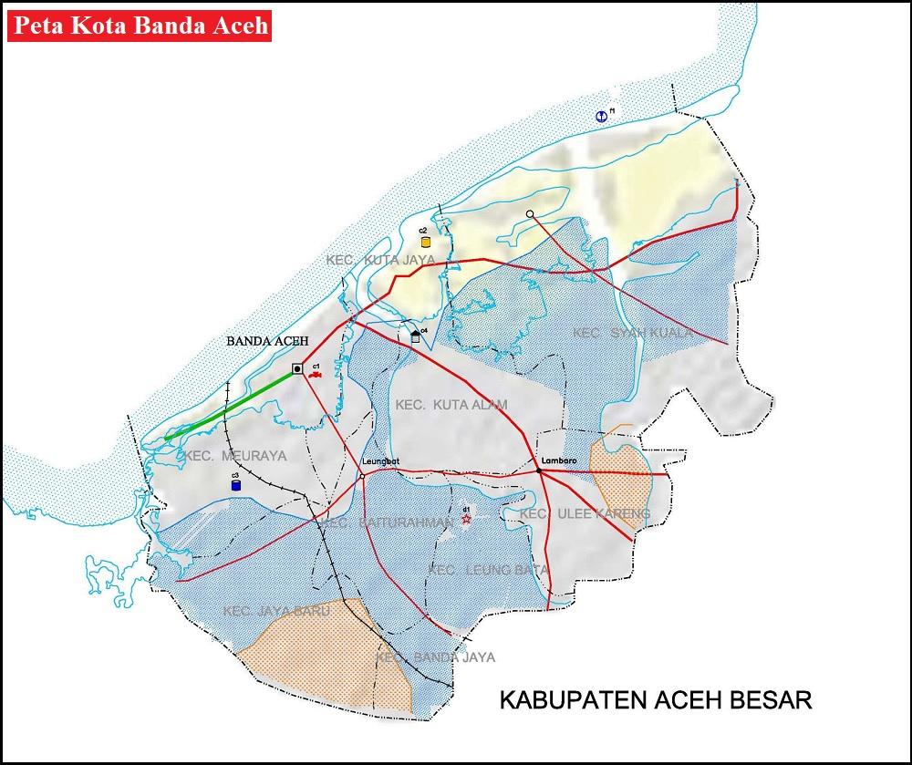 Peta Kota Banda Aceh HD Lengkap
