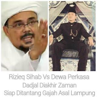 Dewa Perkasa Gajah Asal Lampung Tantang Duel Rizieq Sihab Ketua FPI