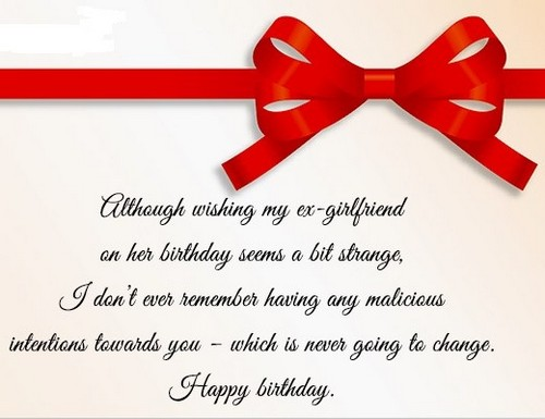 Birthday messages for Ex-Girlfriend