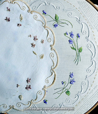 Society Silk Violets: Comparing an authentic antique to my version of the violets