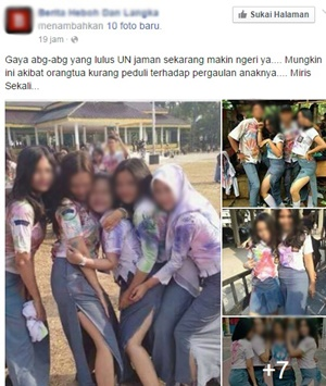 Foto 'Miris' Kelakuan Anak Sekolah Zaman Sekarang