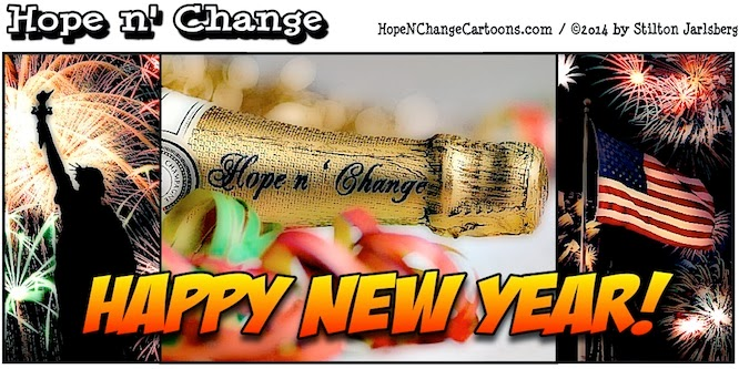 obama, obama jokes, cartoon, humor, political, stilton jarlsberg, hope n' change, hope and change, conservative, tea party, new year, new year's