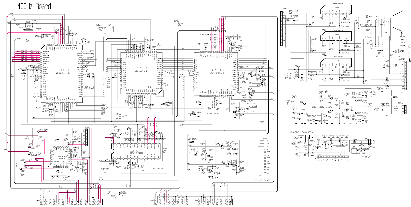 Schematic Diagrams Lg Re28fz10 Re32fz10 100hz Crt Tv