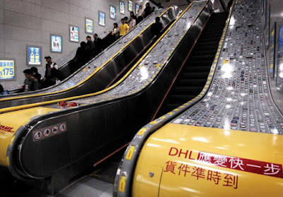 DHL Escalator Advertisement