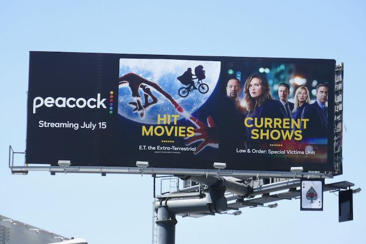 Peacock TV Hit movies billboard