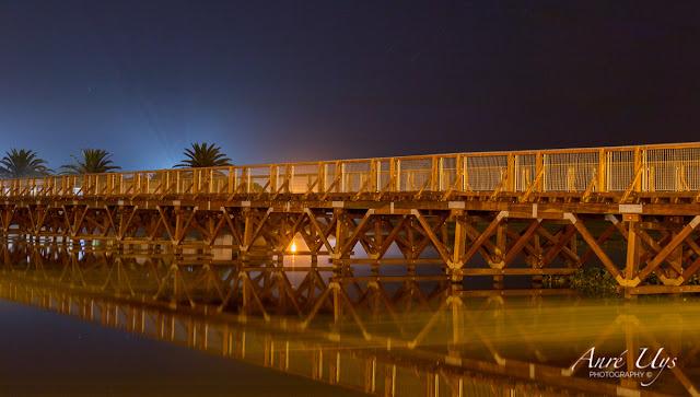 Wooden bridge long exposure at Milnerton