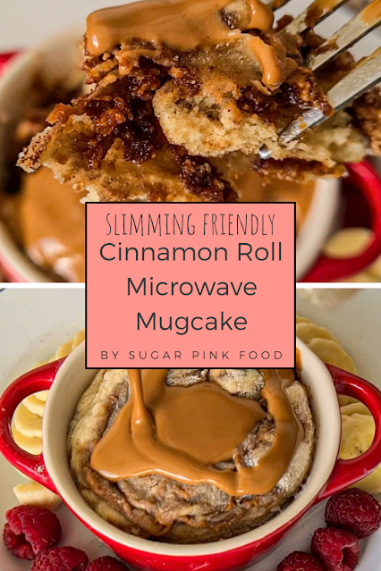 Biscoff Cinnamon Roll Mugcake Recipe | Slimming Recipe