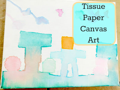 Country Mouse City Spouse Monday Mish Mash Link Party #32 Feature- Tissue Paper Canvas Art @ Our Unschooling Journey