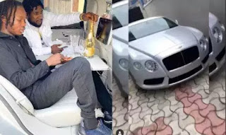 Naira Marley Confirms Reports That He Bought A Bentley