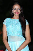 Pujita Ponnada in transparent sky blue dress at Darshakudu pre release ~  Exclusive Celebrities Galleries 111.JPG