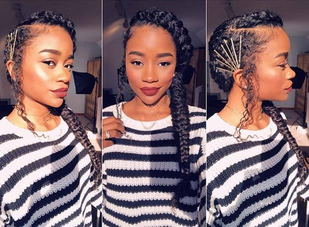 23 Accessorized Fishtail Braids Hairstyles For Black Women