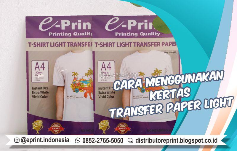 Cara Menggunakan Transfer Paper Dark, 0852-2765-5050
