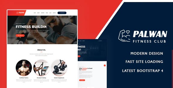 Gym Fitness Bootstrap Template