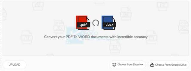 Bagaimana cara mengubah file format PDF ke Word secara online & offline (menggunakan aplikasi )atau tanpa menggunakan aplikasi? ada beberapa situs online yang dapat Anda manfaatkan untuk convert file PDF ke Word dengan mudah salah satunya duplichecker, unipdf, sodapdf, smallpdf, pdf2doc, google document.