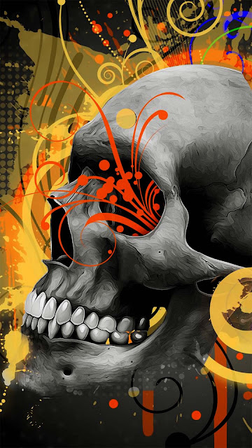 17 Iron Metal Skull Art, Black Skull, Colorful Smoke Skull HD Wallpapers 4K iPhone and Android