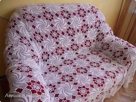 Patrón #1054: Manta Sillón a Crochet