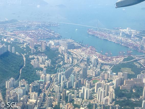 Vista aerea de hong Kong, la antigua colonia britanica